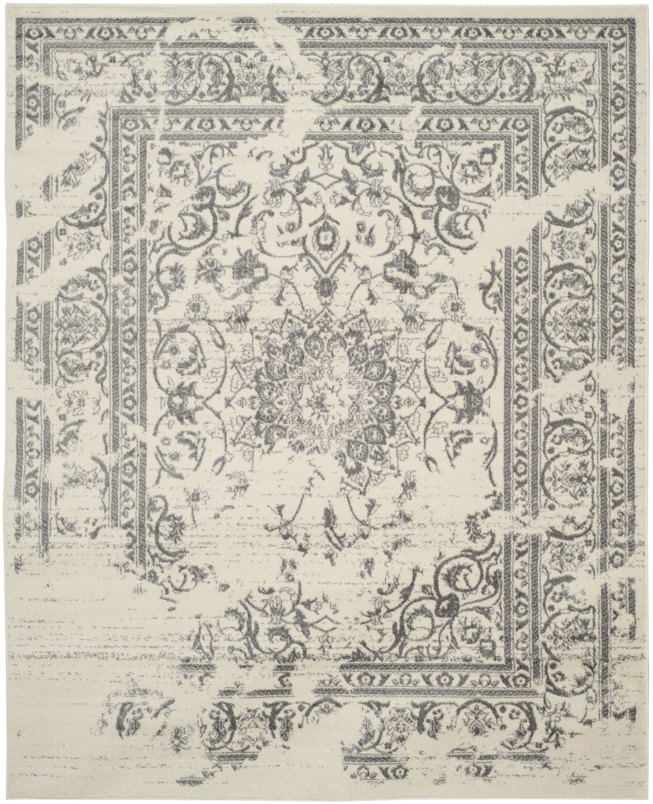 Costa Mesa Ivory/Silver Area Rug Rug Size: Rectangle 10' x 14'