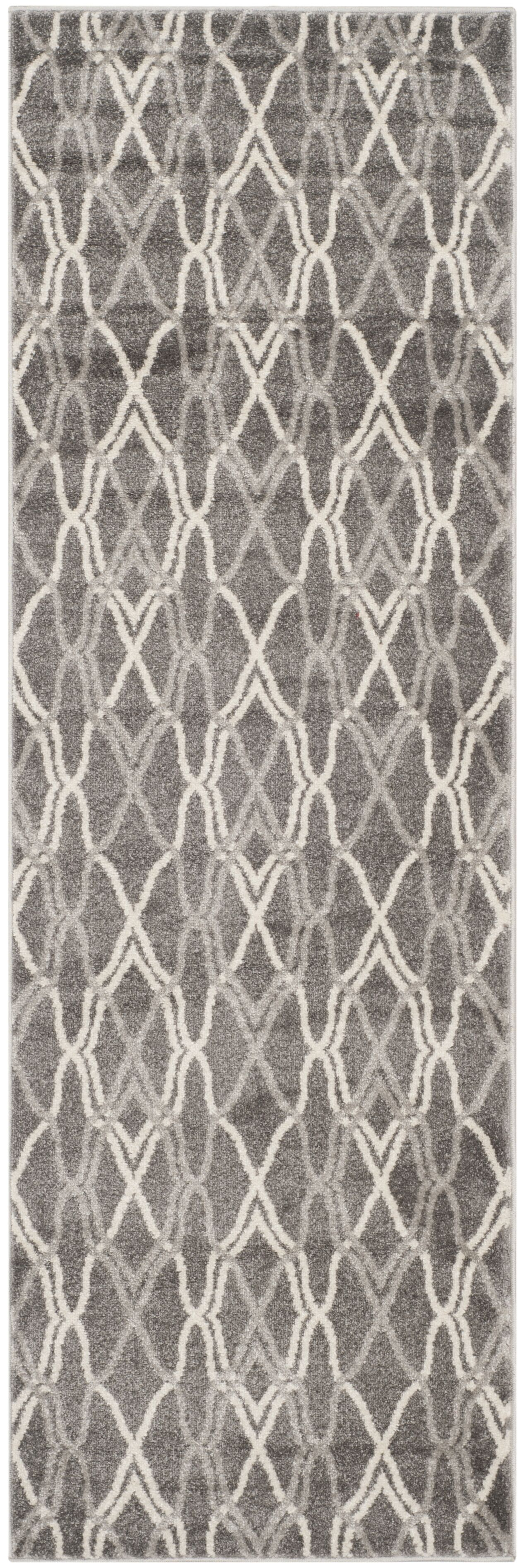 Ajax Grey/Light Grey Outdoor Area Rug Rug Size: Runner 2'3