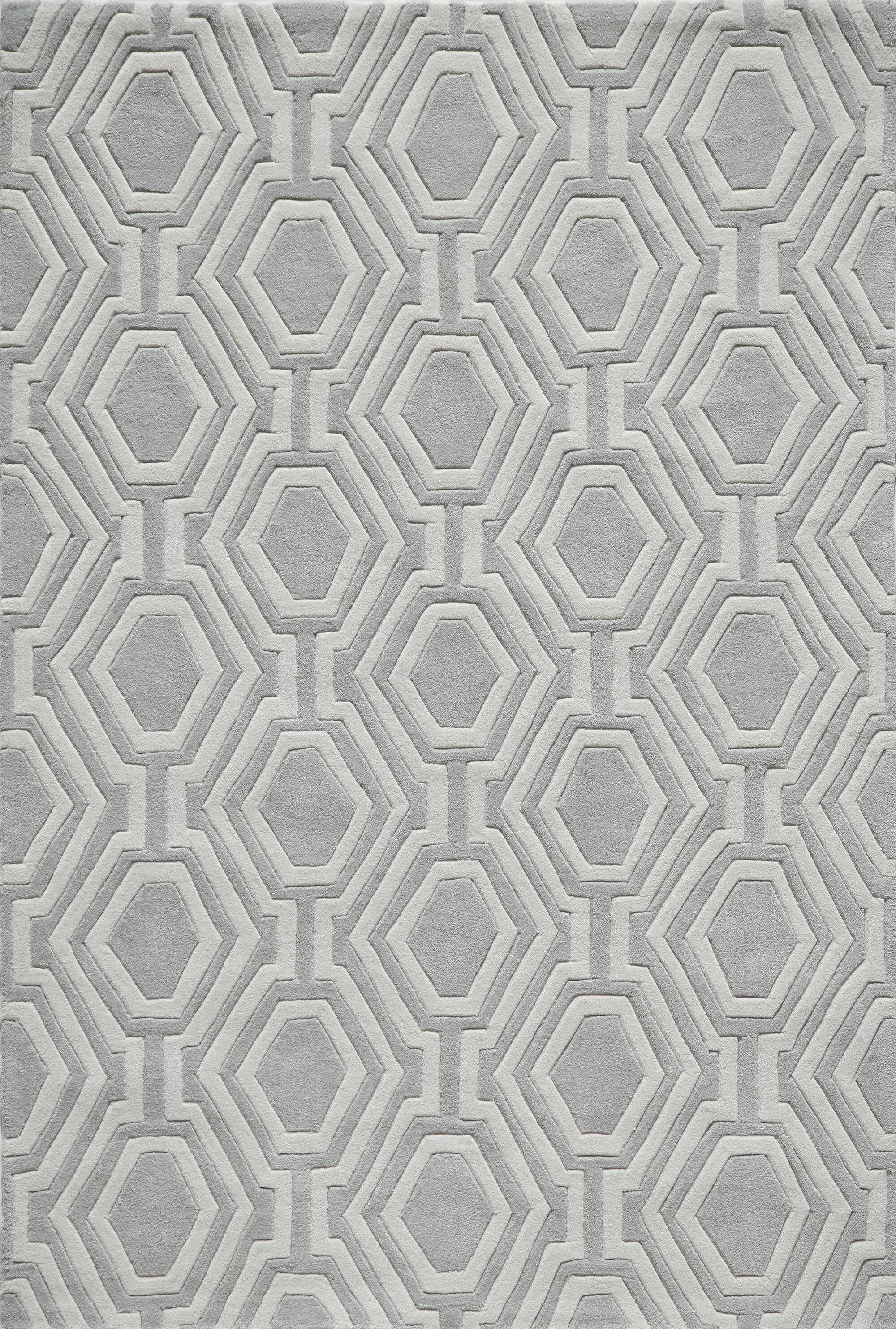 Wills Hand-Tufted Gray Area Rug Rug Size: Rectangle 5' x 7'6