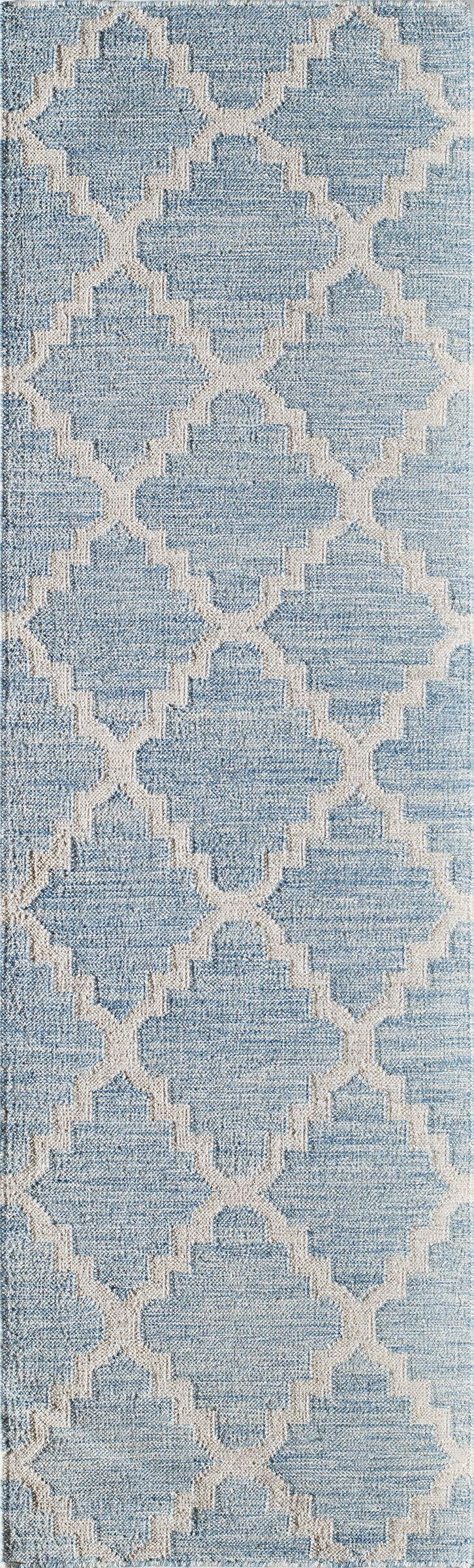 Zara Hand-Woven Blue Area Rug Rug Size: Runner 2'3