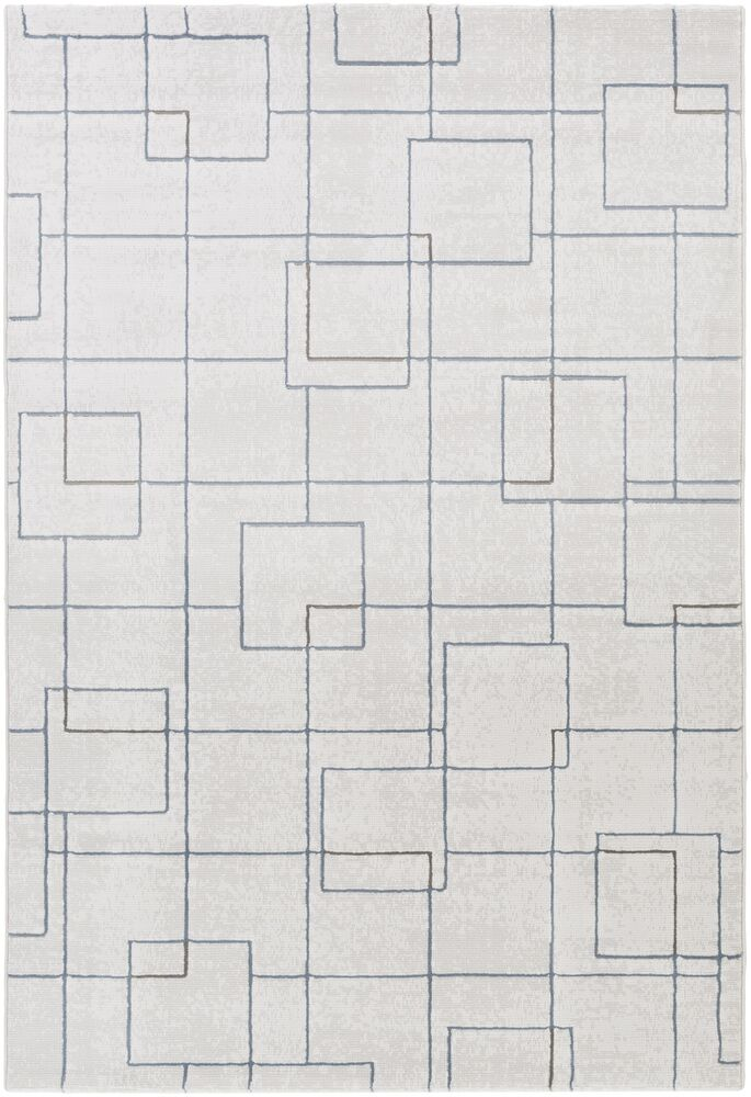 Mcdowell White/Gray Area Rug Rug Size: Rectangle 5'3