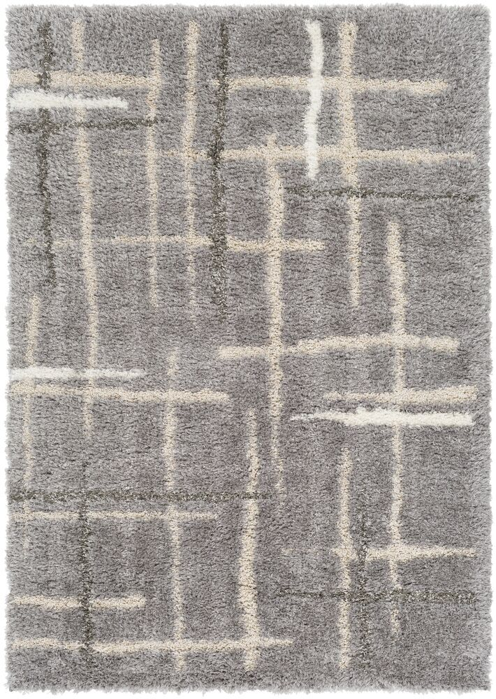 Sewell Gray/Beige Area Rug Rug Size: Rectangle 5' x 7'6