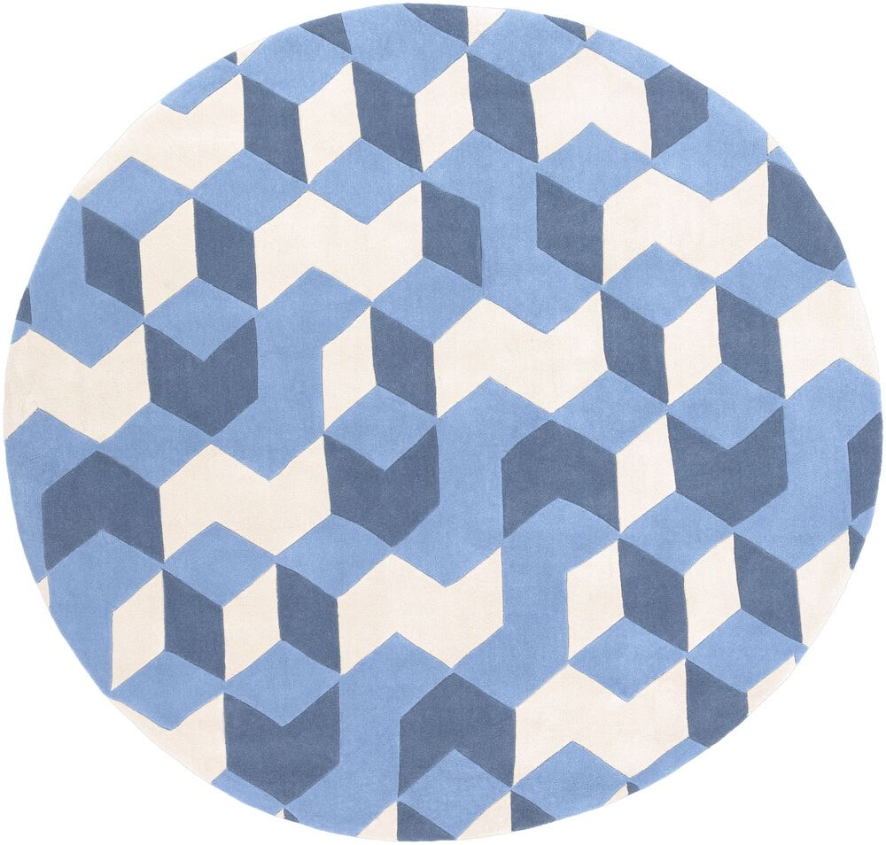 Conroy Hand-Tufted Blue Area Rug Rug Size: Rectangle 3'6