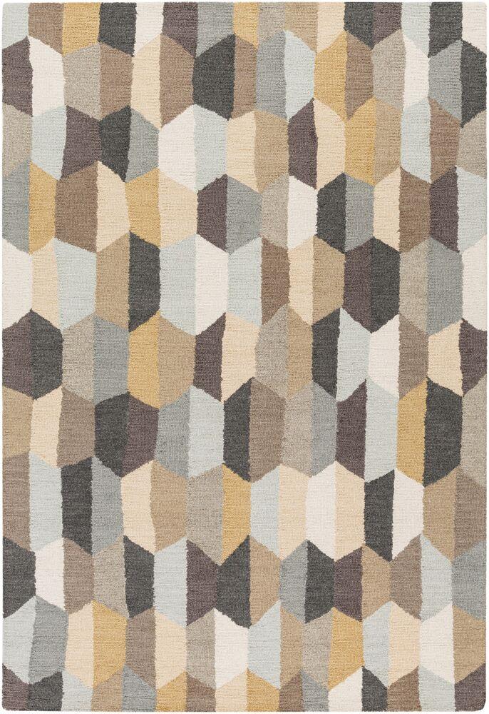 Senger Hand-Tufted Beige/Gray Area Rug Rug Size: Rectangle 5' x 7'6