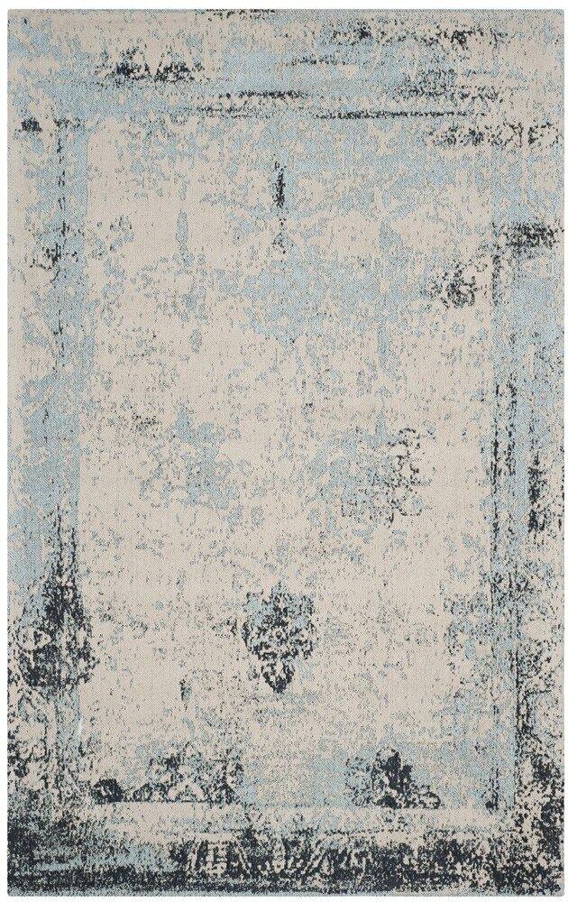 Sarvis Classic Vintage Blue Area Rug Rug Size: Rectangle 5' x 8'
