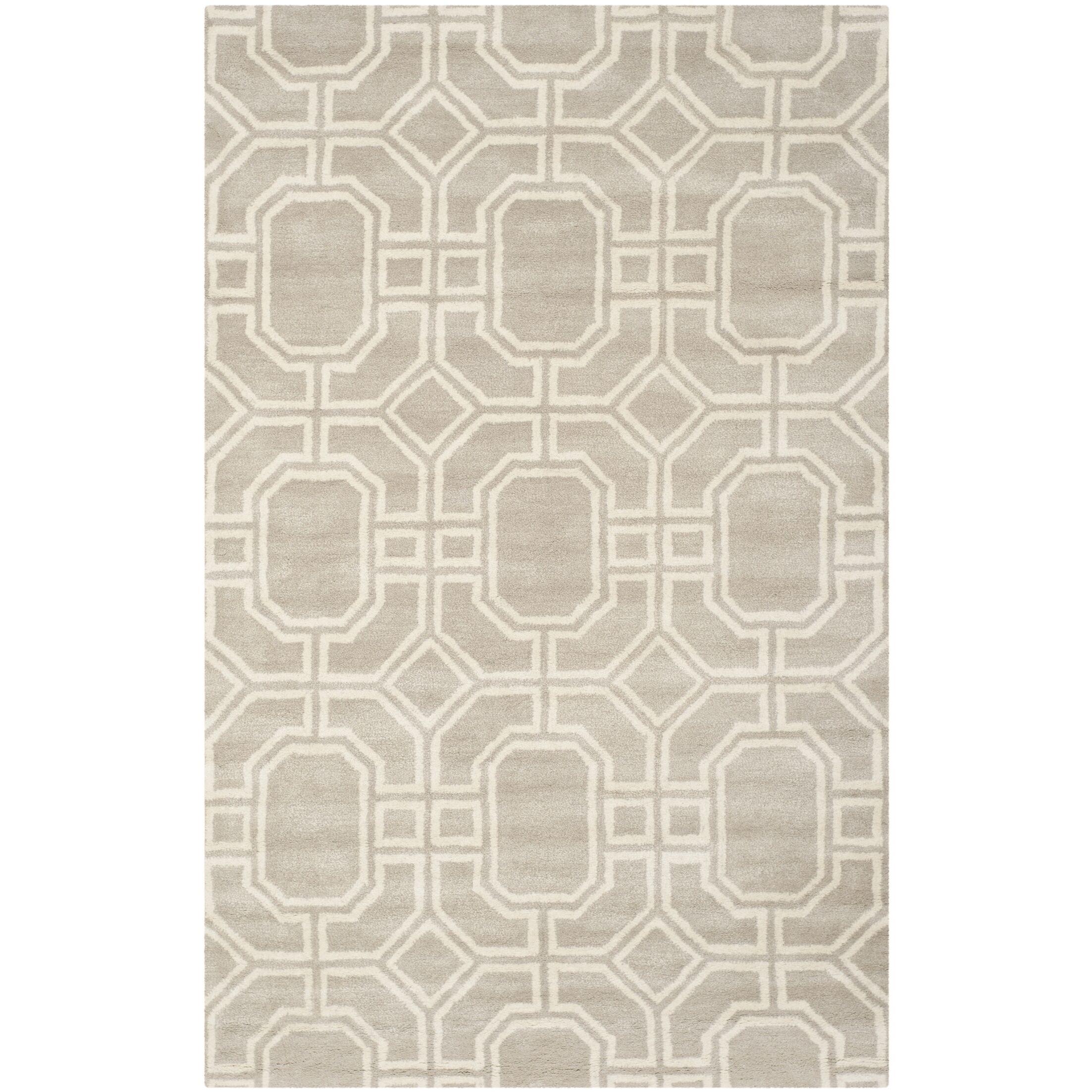 Schaub Hand-Tufted Gray/Ivory Area Rug Rug Size: Rectangle 3'6