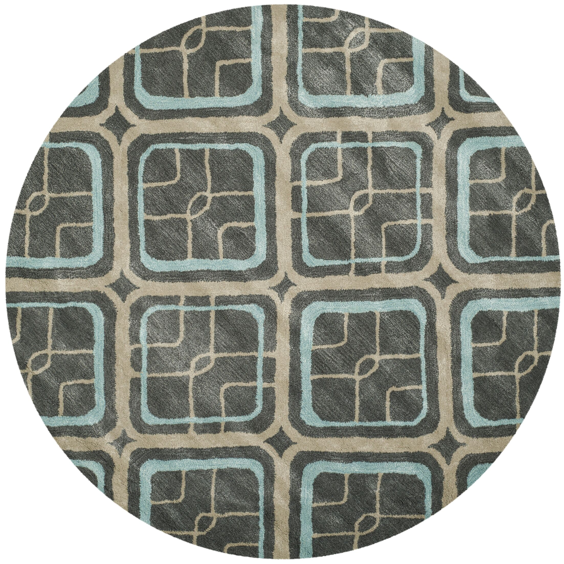 Schaub Hand-Tufted Gray/Beige Area Rug Rug Size: Rectangle 5' x 8'