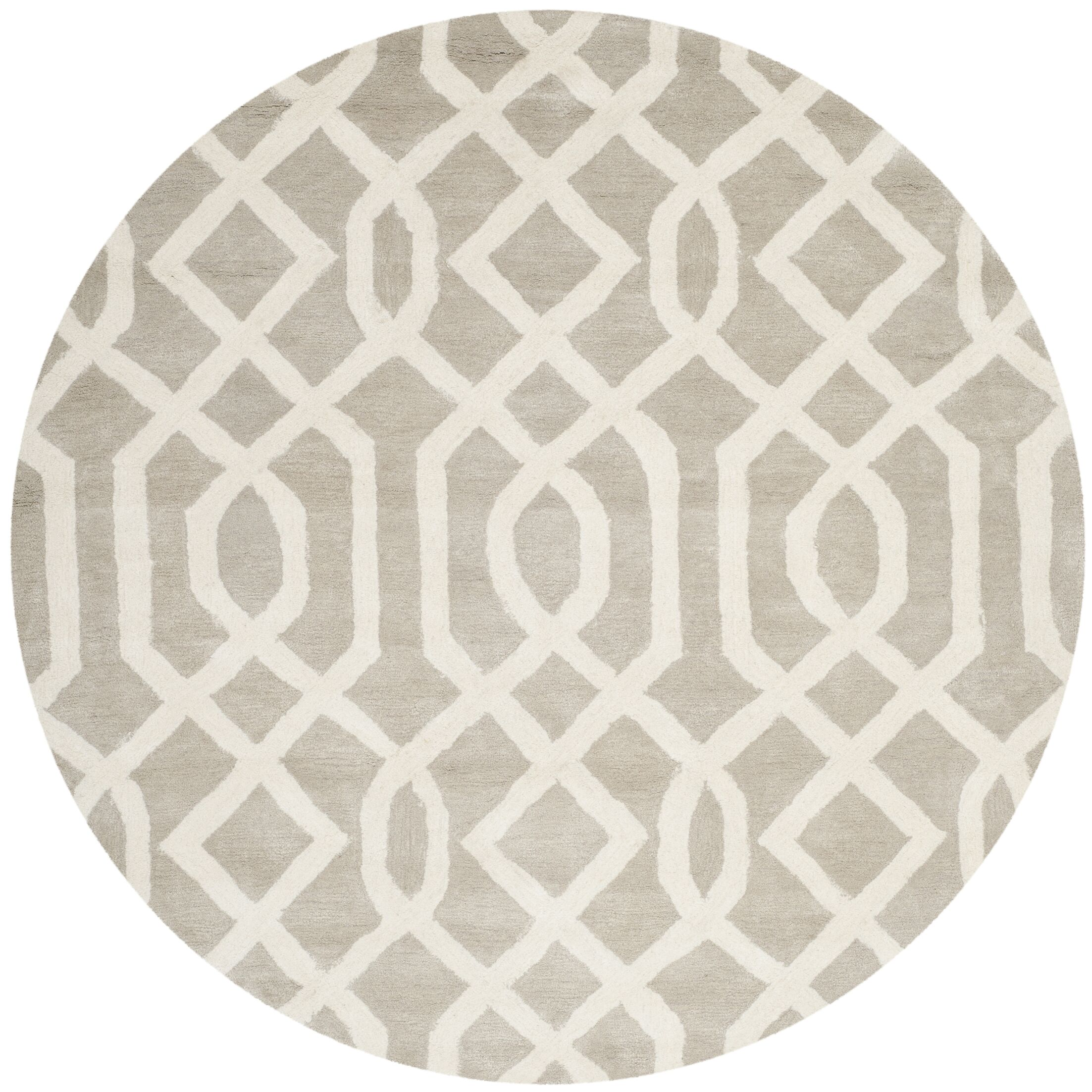 Schaub Grey/Ivory Area Rug Rug Size: Rectangle 8'3