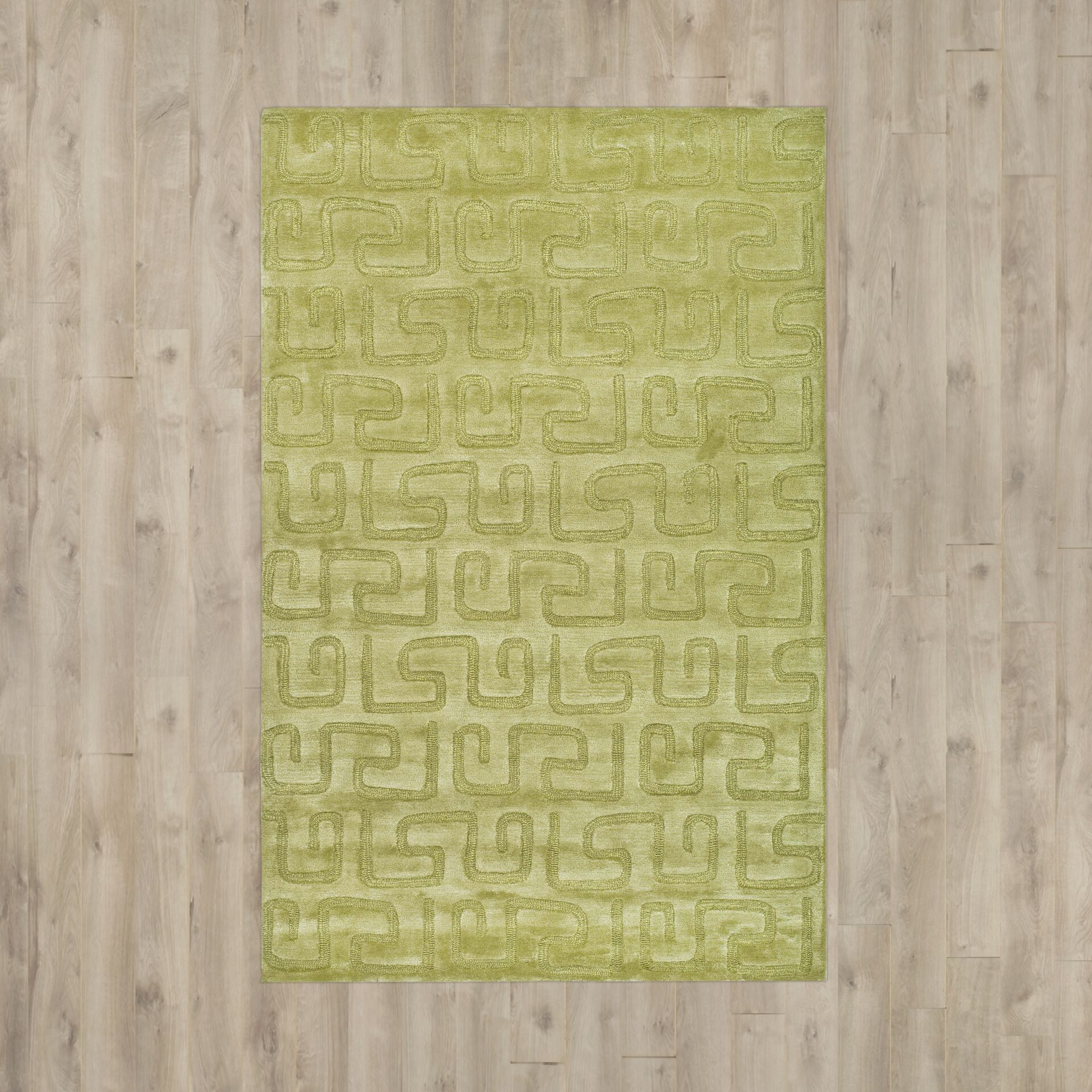 Armstrong Hand-Tufted Green Area Rug Rug Size: Rectangle 7'6