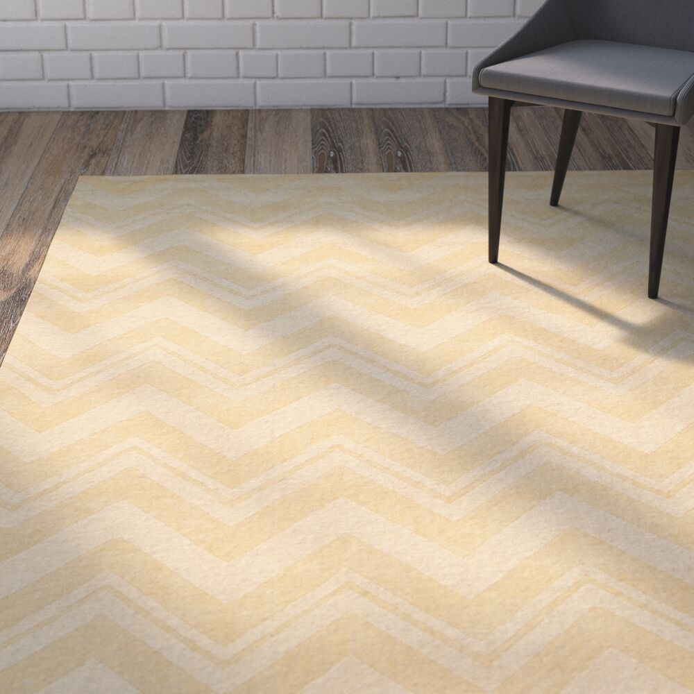 Scanlan Gold Area Rug Rug Size: Rectangle 7'6