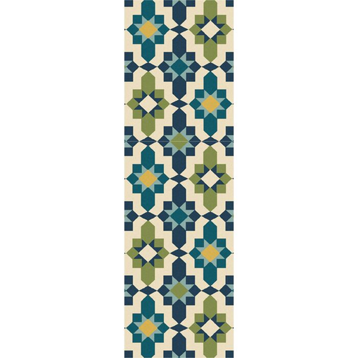 West Hill Multi-Colored Indoor/Outdoor Area Rug Rug Size: Runner 2'6