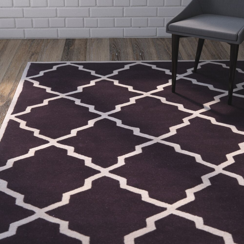 Wilkin Dark Purple Moroccan Rug Rug Size: Rectangle 4' x 6'