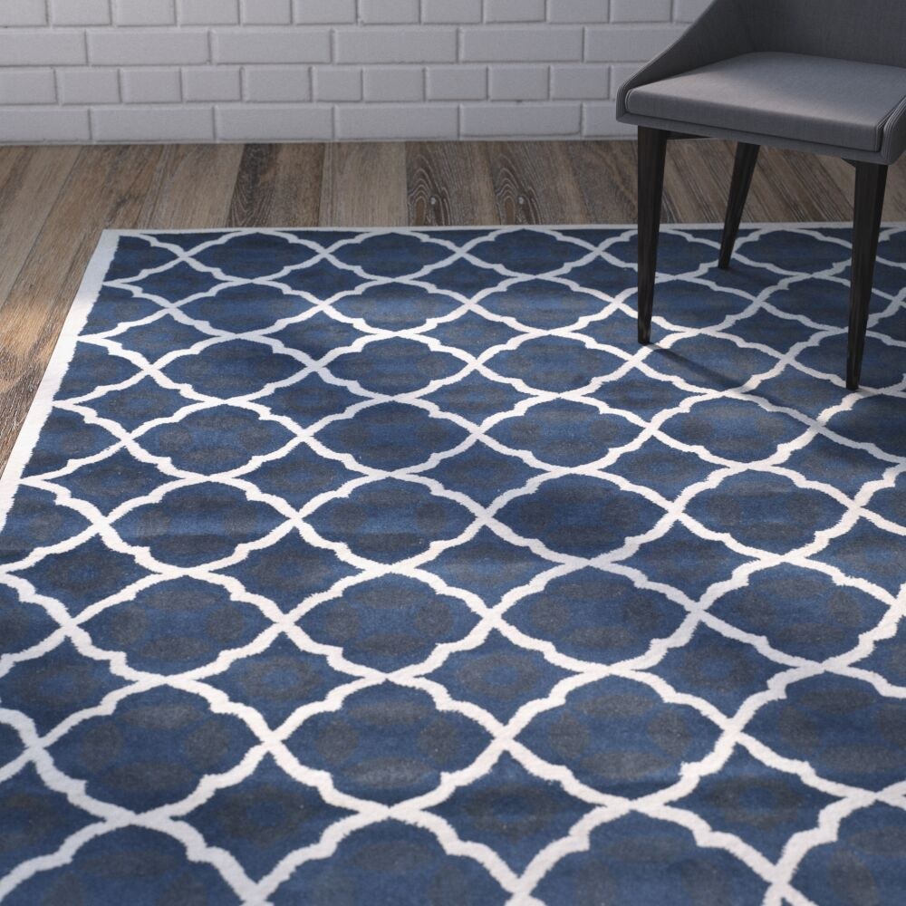 Wilkin Blue/Ivory Moroccan Area Rug Rug Size: Rectangle 4' x 6'