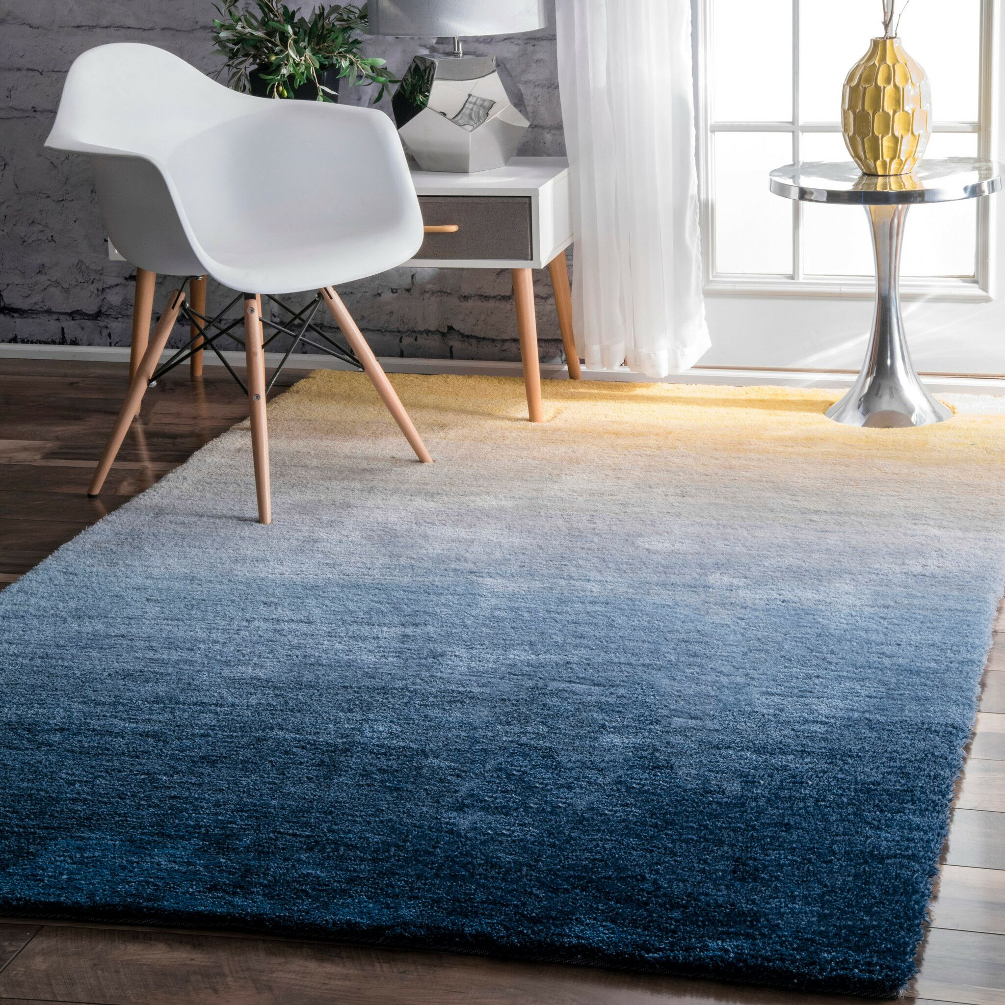 Lyric Hand-Tufted Navy Area Rug Rug Size: Runner 2'6