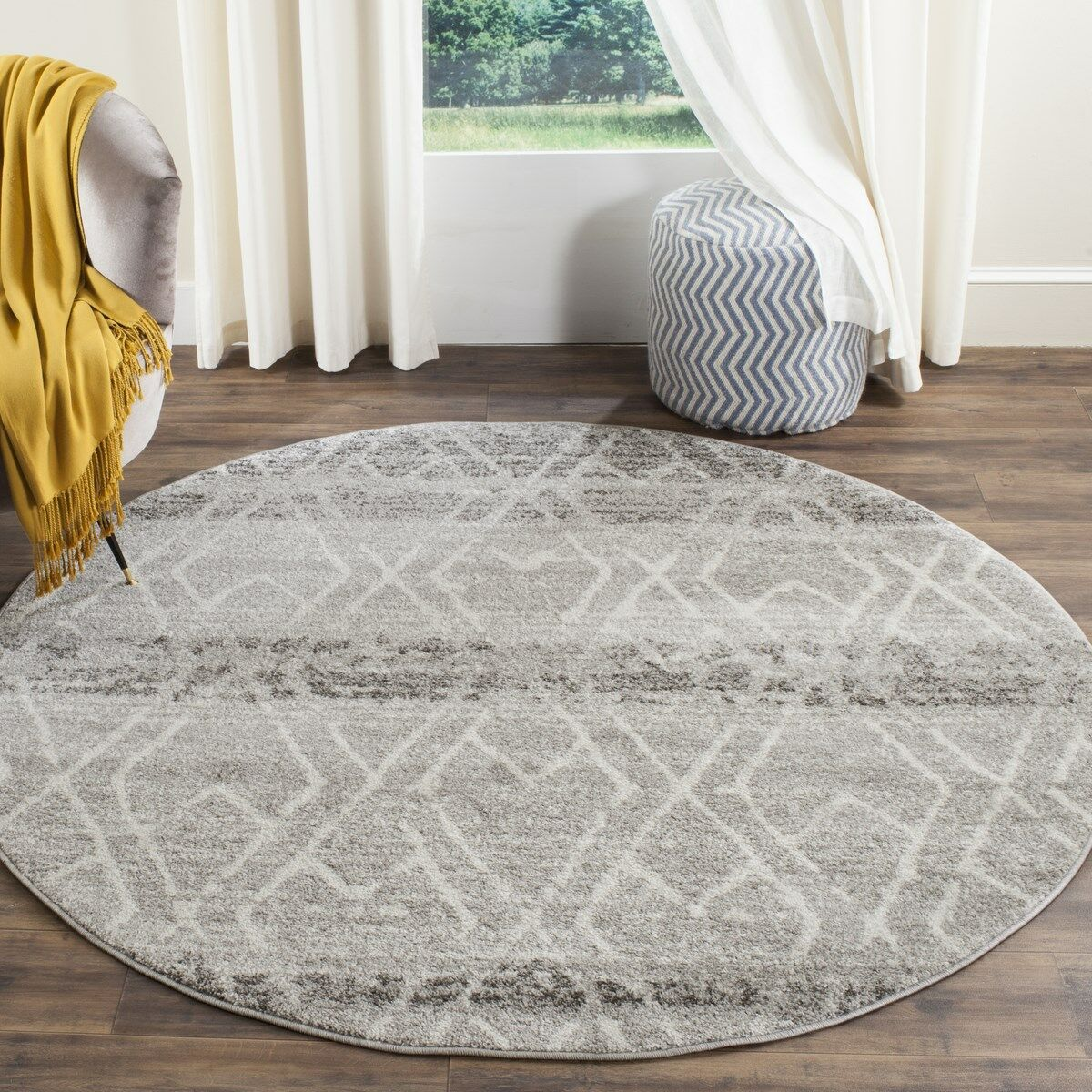Seaport Area Rug Rug Size: Round 6'