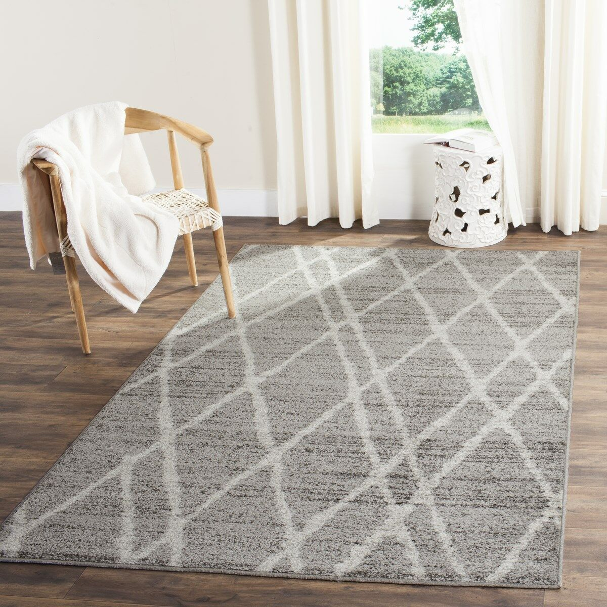 Seaport Gray/Ivory Area Rug Rug Size: Rectangle 9' x 12'