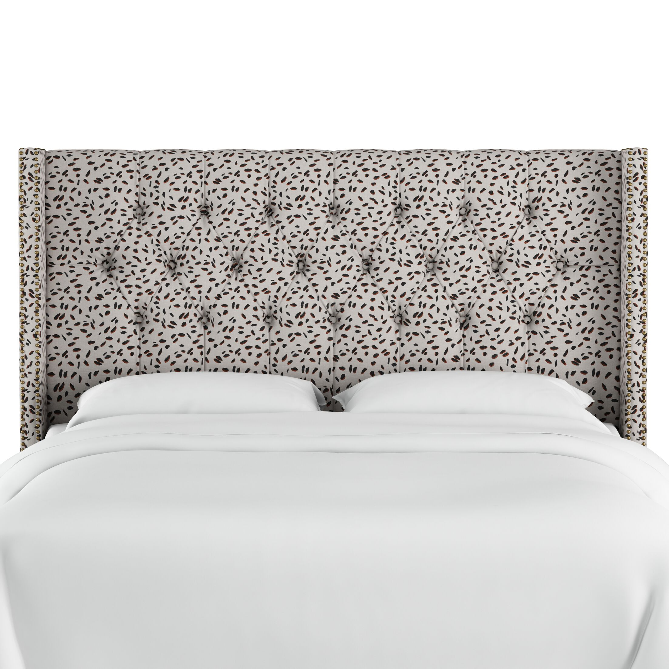 Grays Ferry Diamond Tufted Neo Leo Upholstered Wingback Headboard Size: Full