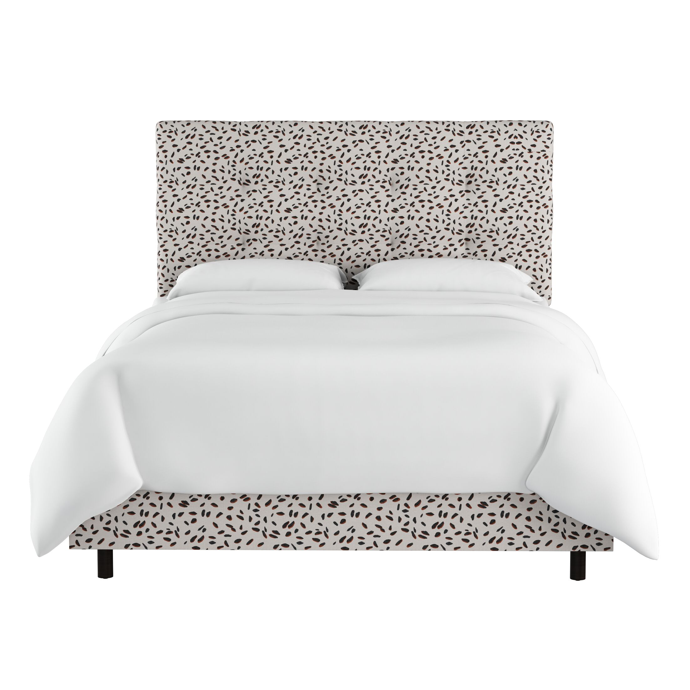 Grays Ferry Neo Leo Tufted Upholstered Panel Bed Size: Queen
