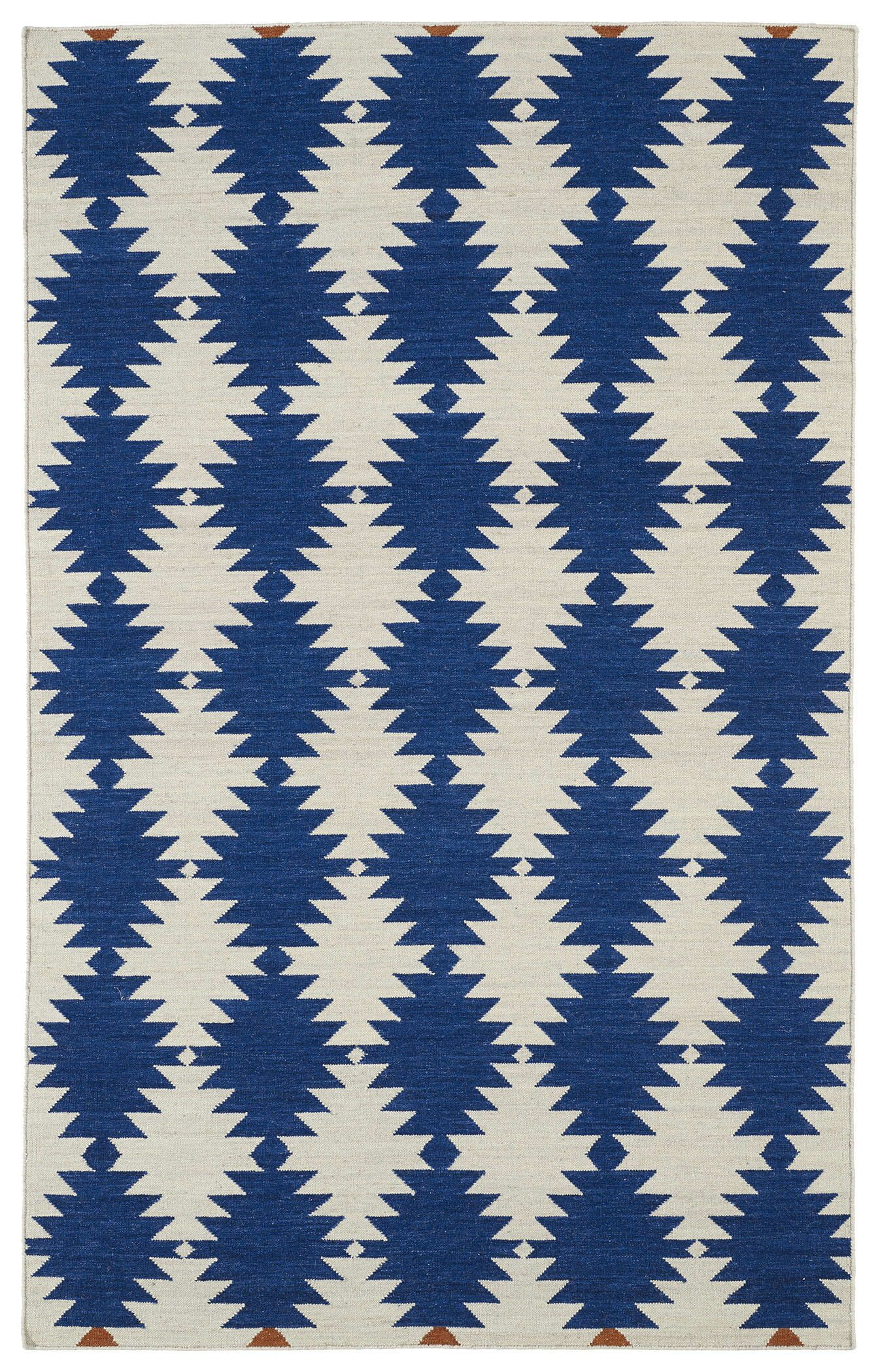 Marble Falls Navy Geometric Area Rug Rug Size: Rectangle 3'6