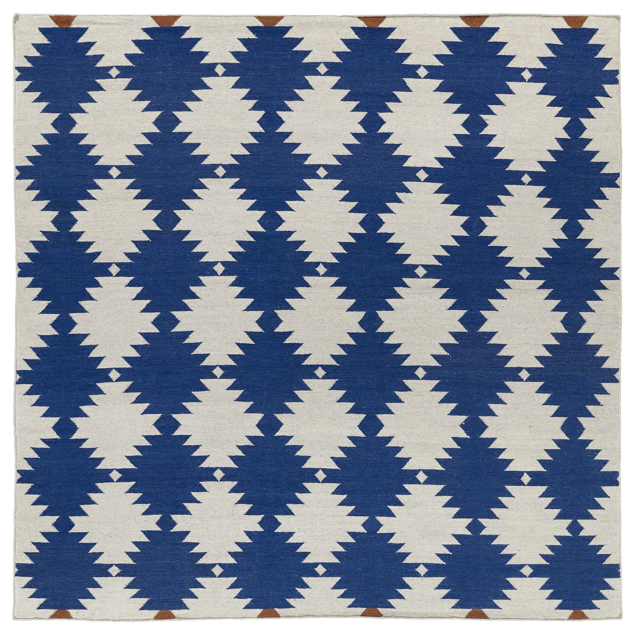 Marble Falls Navy Geometric Area Rug Rug Size: Square 8'