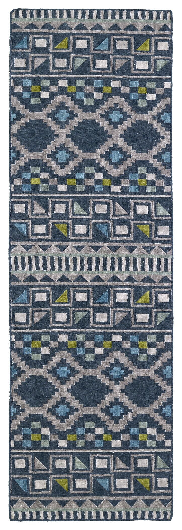 Marble Falls Blue Geometric Area Rug Rug Size: Runner 2'6