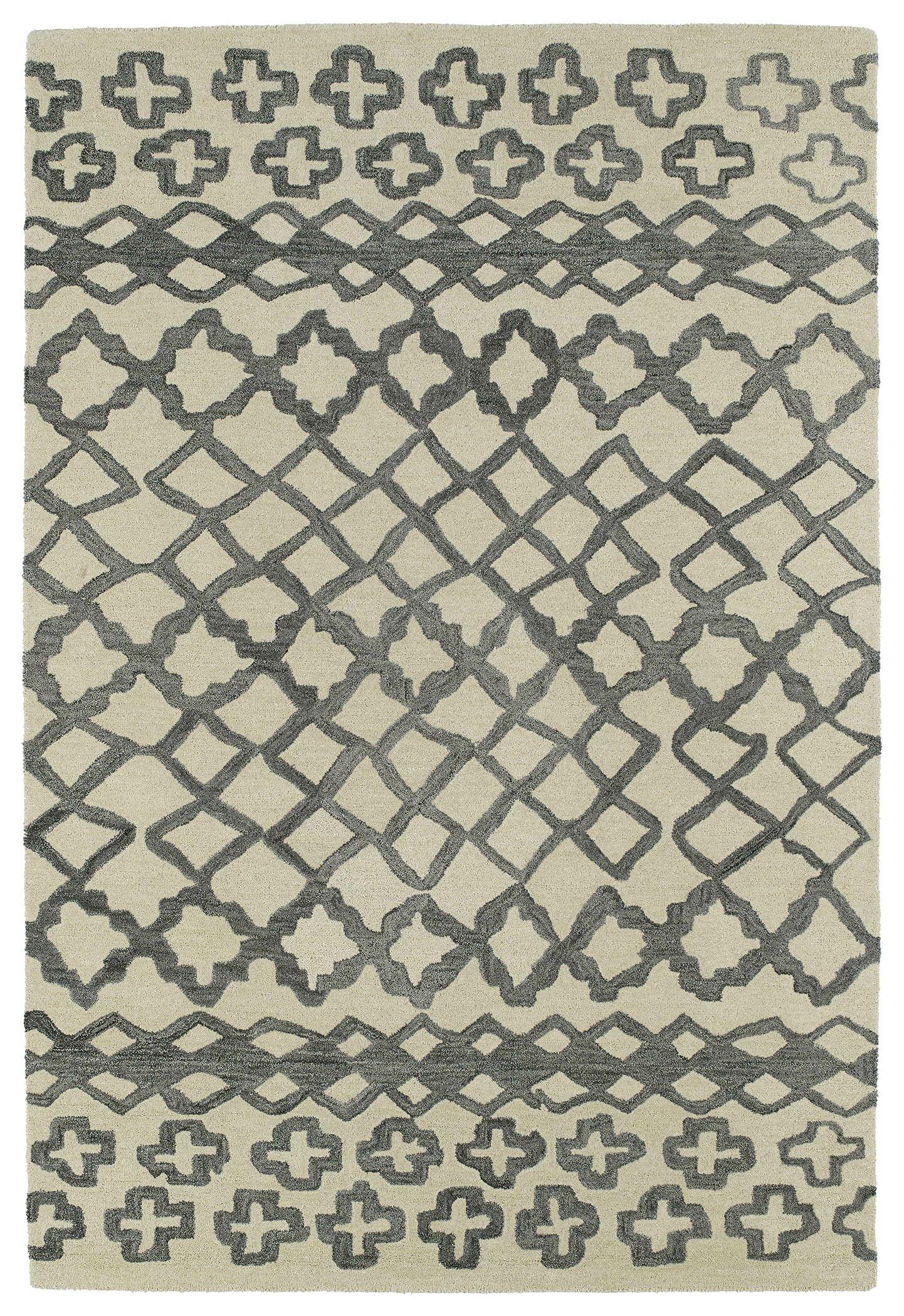 Zack Gray Geometric Area Rug Rug Size: Rectangle 5' x 8'