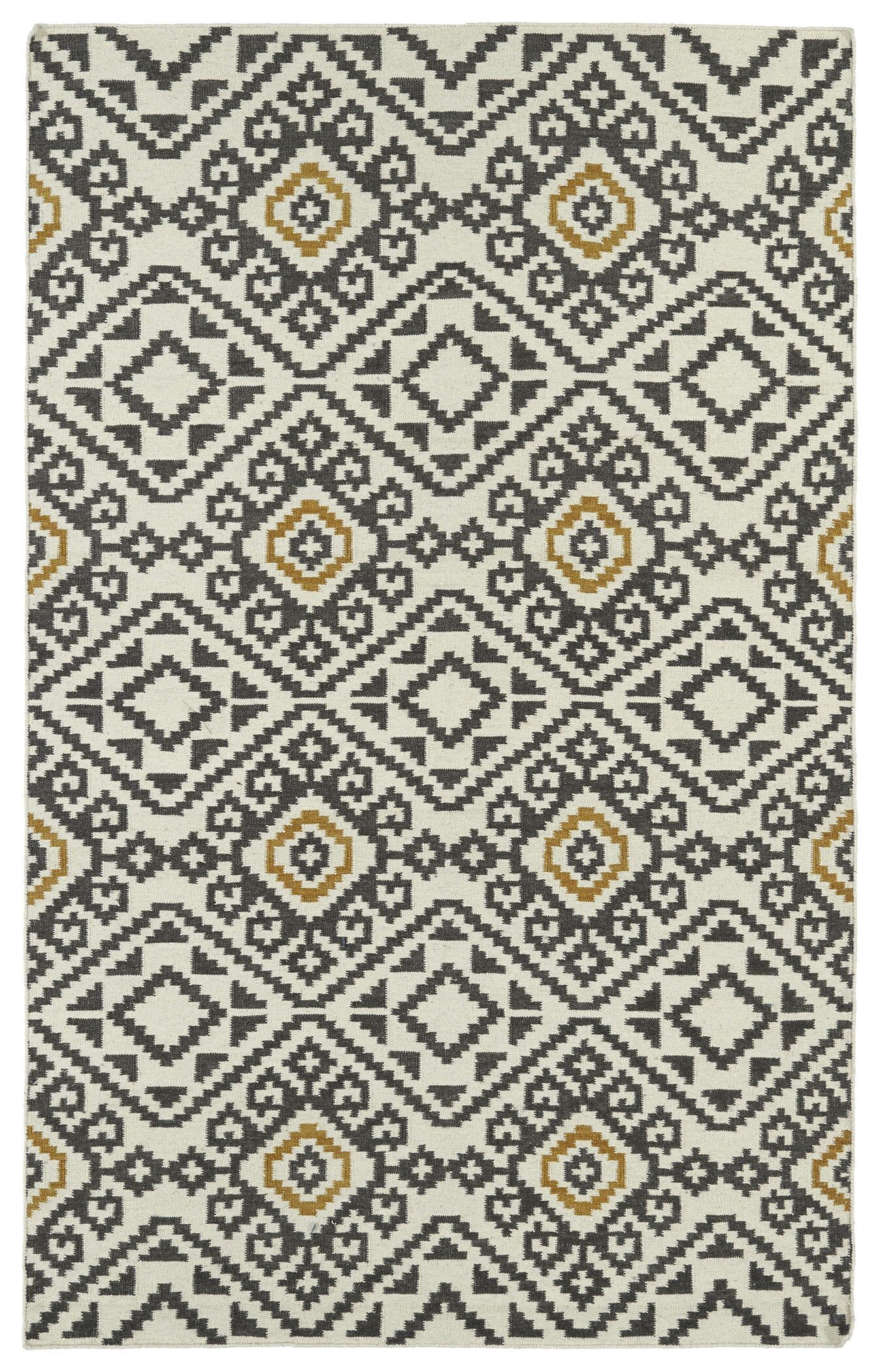 Marble Falls Charcoal Geometric Area Rug Rug Size: Rectangle 3'6