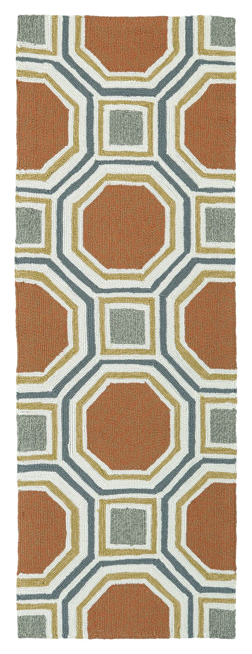 Doylestown Pumpkin Indoor/Outdoor Area Rug Rug Size: Rectangle 9' x 12'