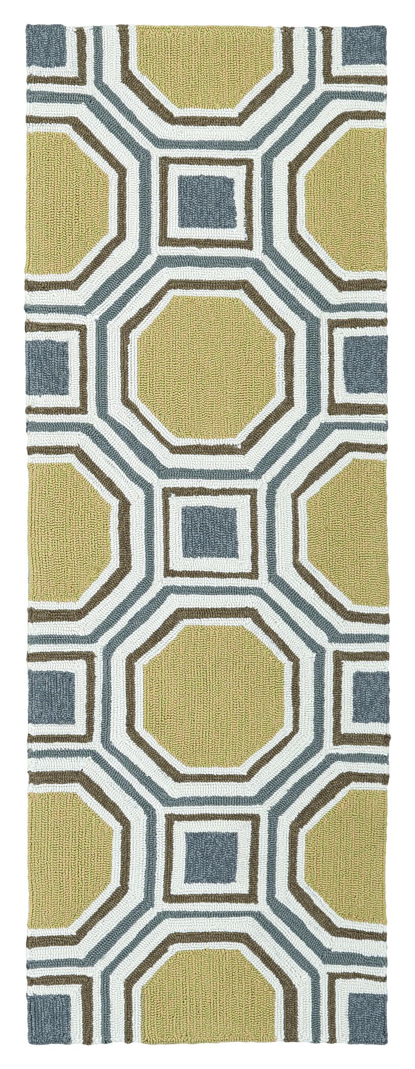 Doylestown Hand-Tufted Gold Indoor/Outdoor Area Rug Rug Size: Rectangle 8' x 10'