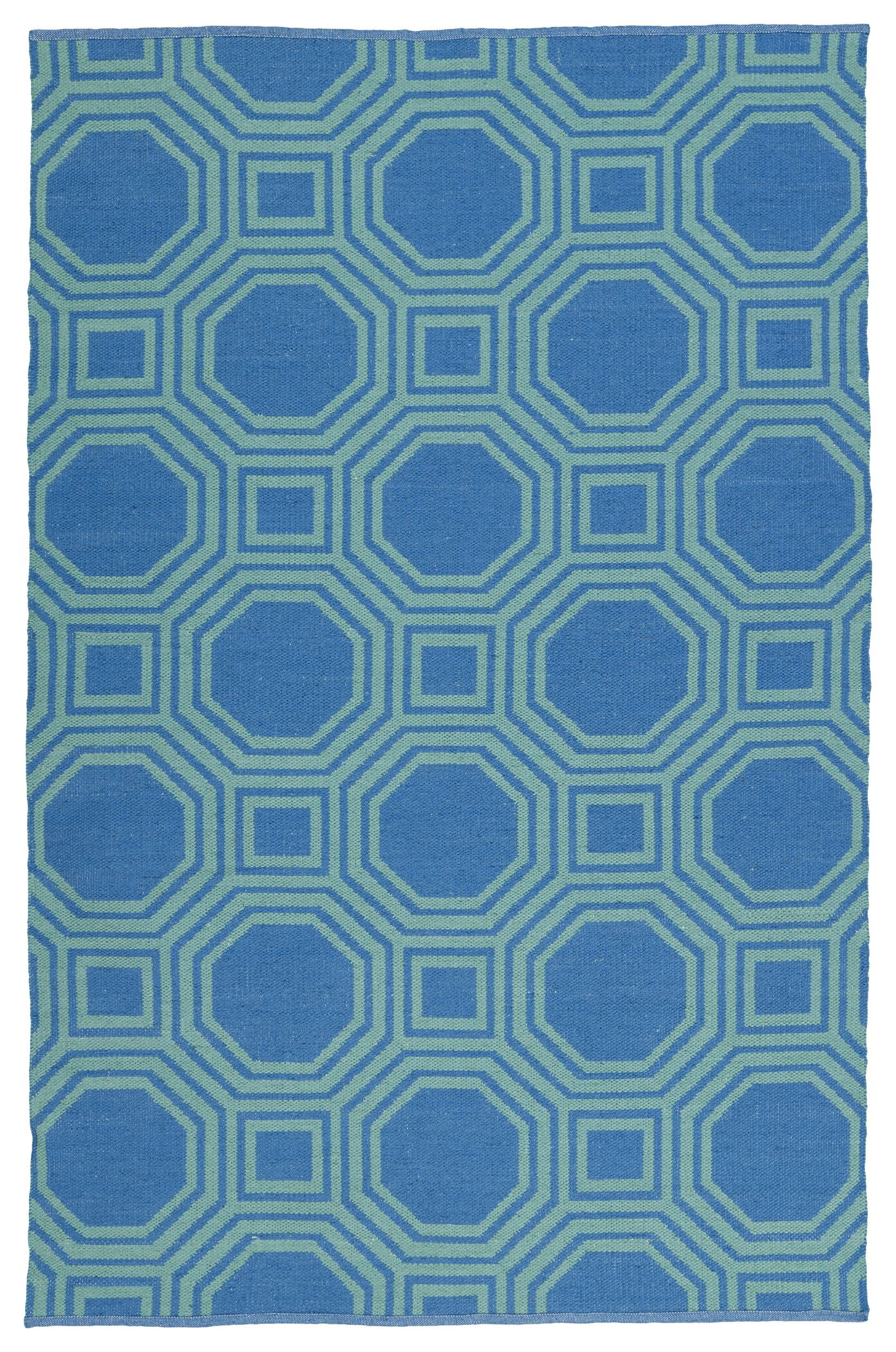 Littleton Green/Blue Indoor/Outdoor Area Rug Rug Size: Rectangle 9' x 12'