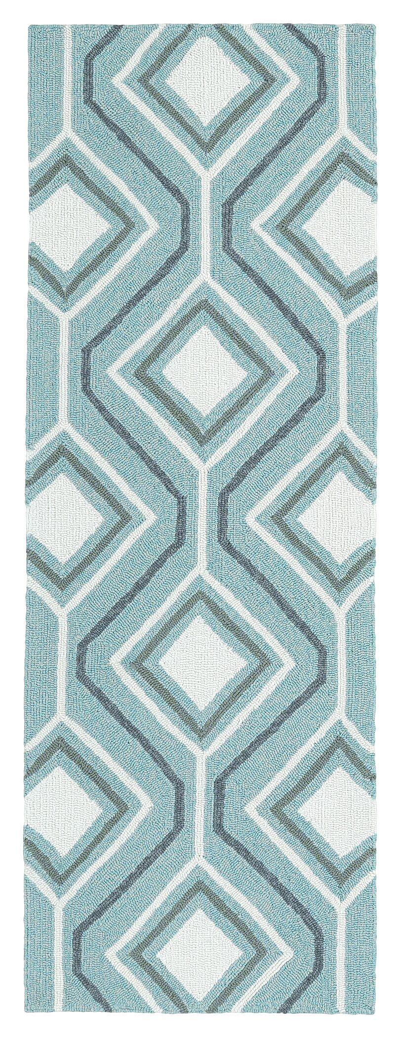 Doylestown Hand-Tufted Blue Indoor/Outdoor Area Rug Rug Size: Rectangle 5' x 7'6