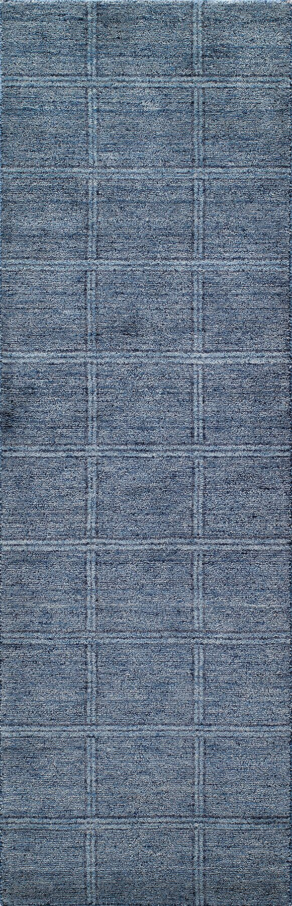 Haggins Hand-Knotted Denim Area Rug Rug Size: Rectangle 8' x 11'
