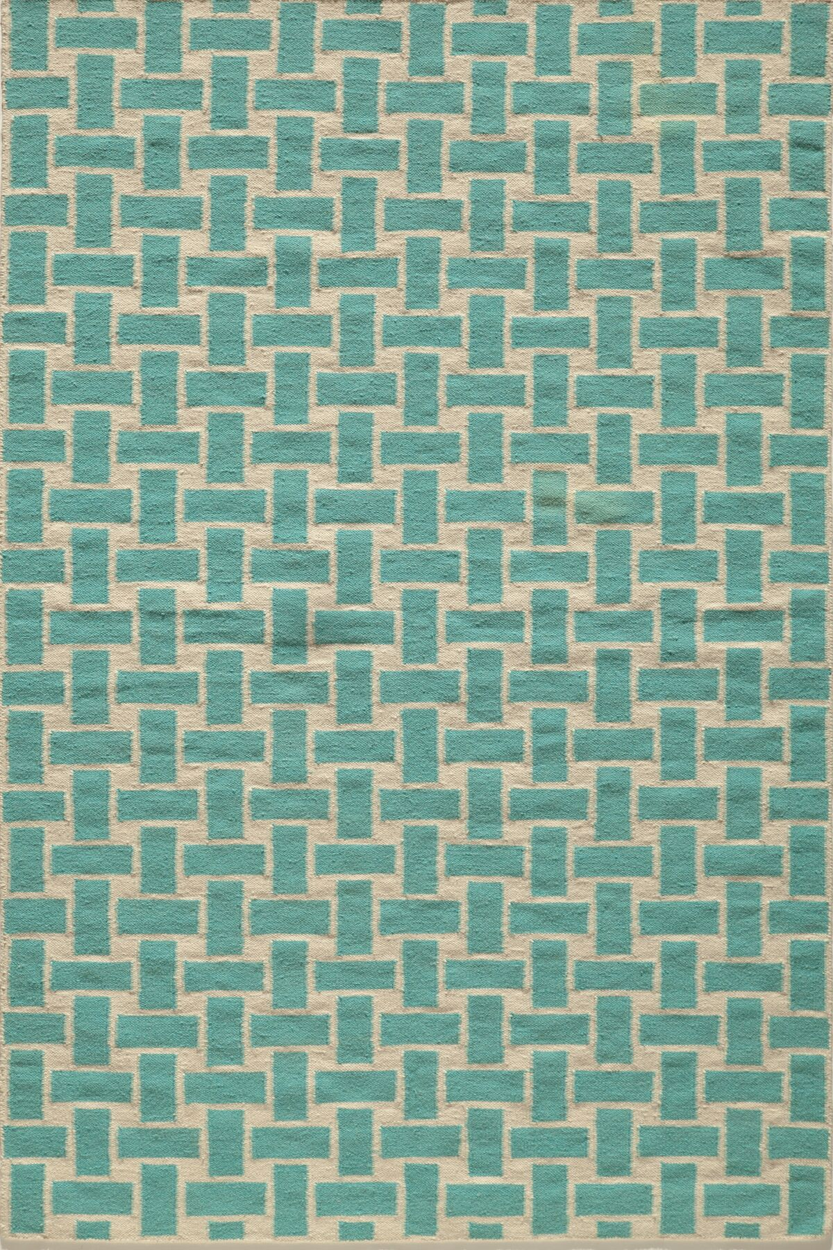 Hagler Hand-Woven Aqua Area Rug Rug Size: Rectangle 5' x 8'