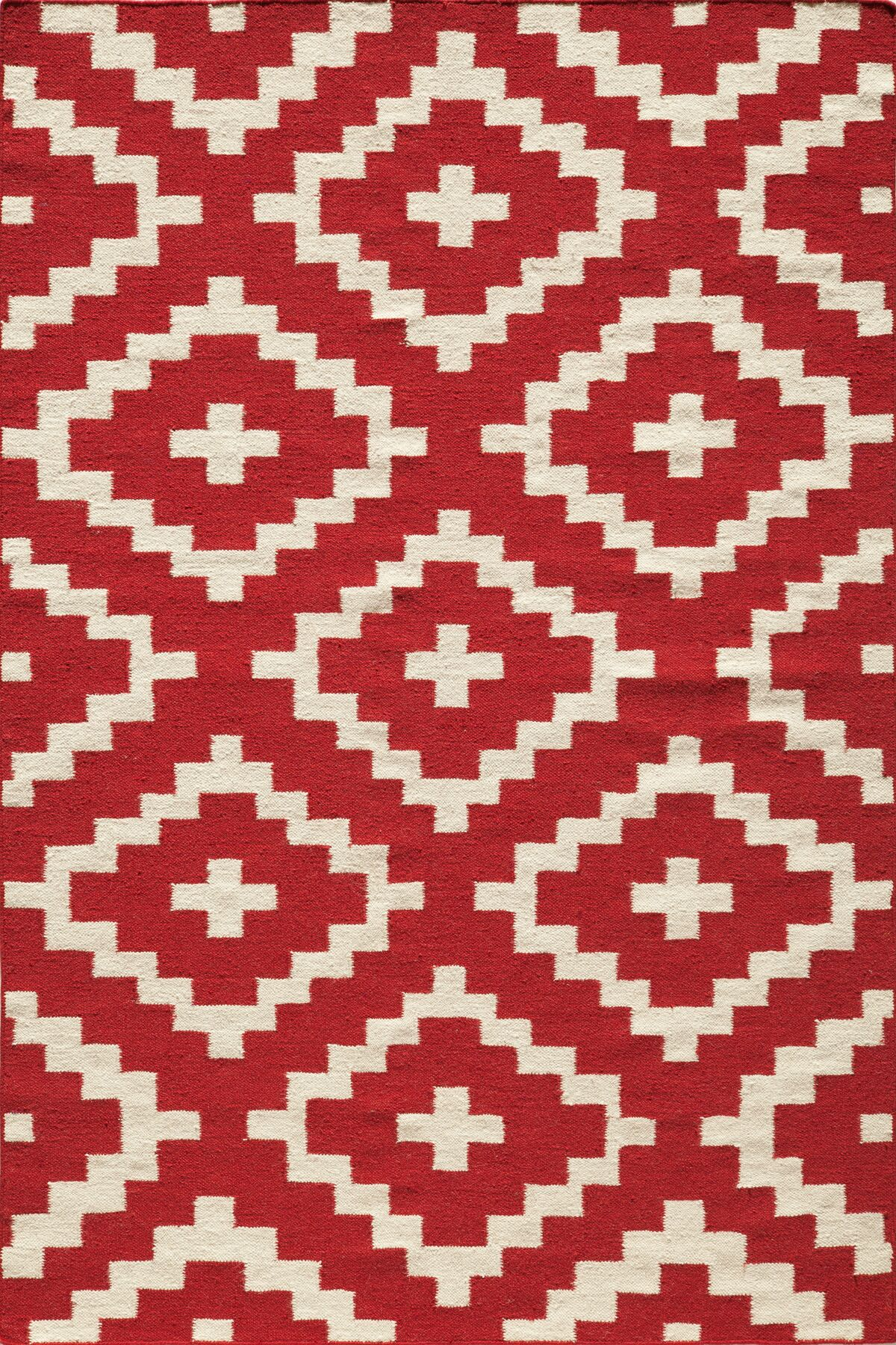 Hagler Hand-Woven Red Area Rug Rug Size: Rectangle 5' x 8'