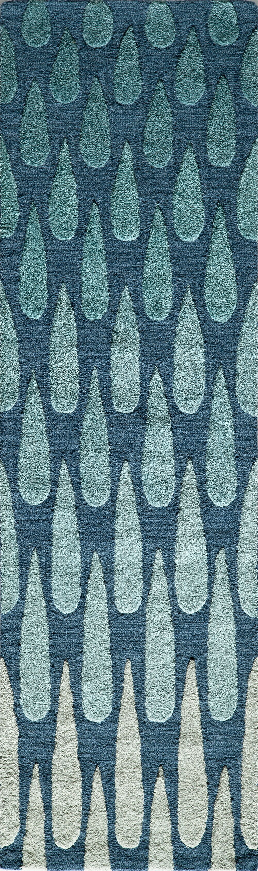 Hagood Hand-Tufted Blue Area Rug Rug Size: Runner 2'3