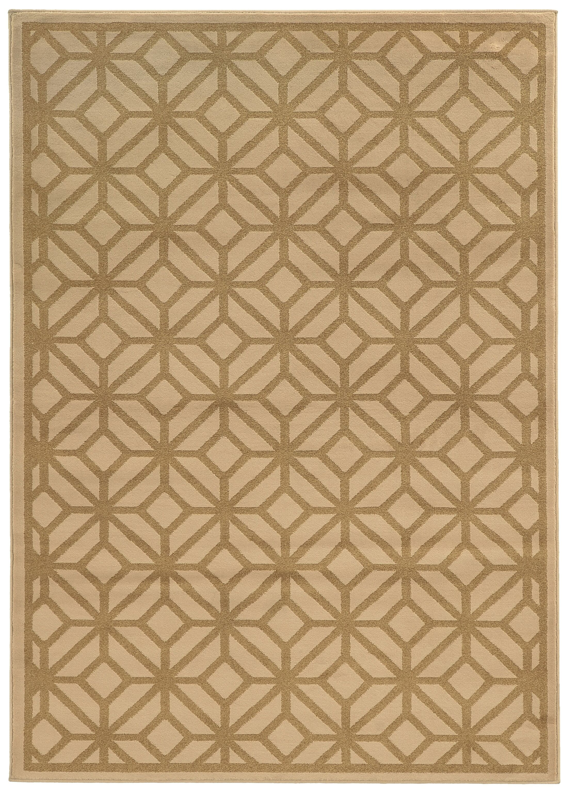 Halloran Beige/Tan Area Rug Rug Size: Rectangle 5'3