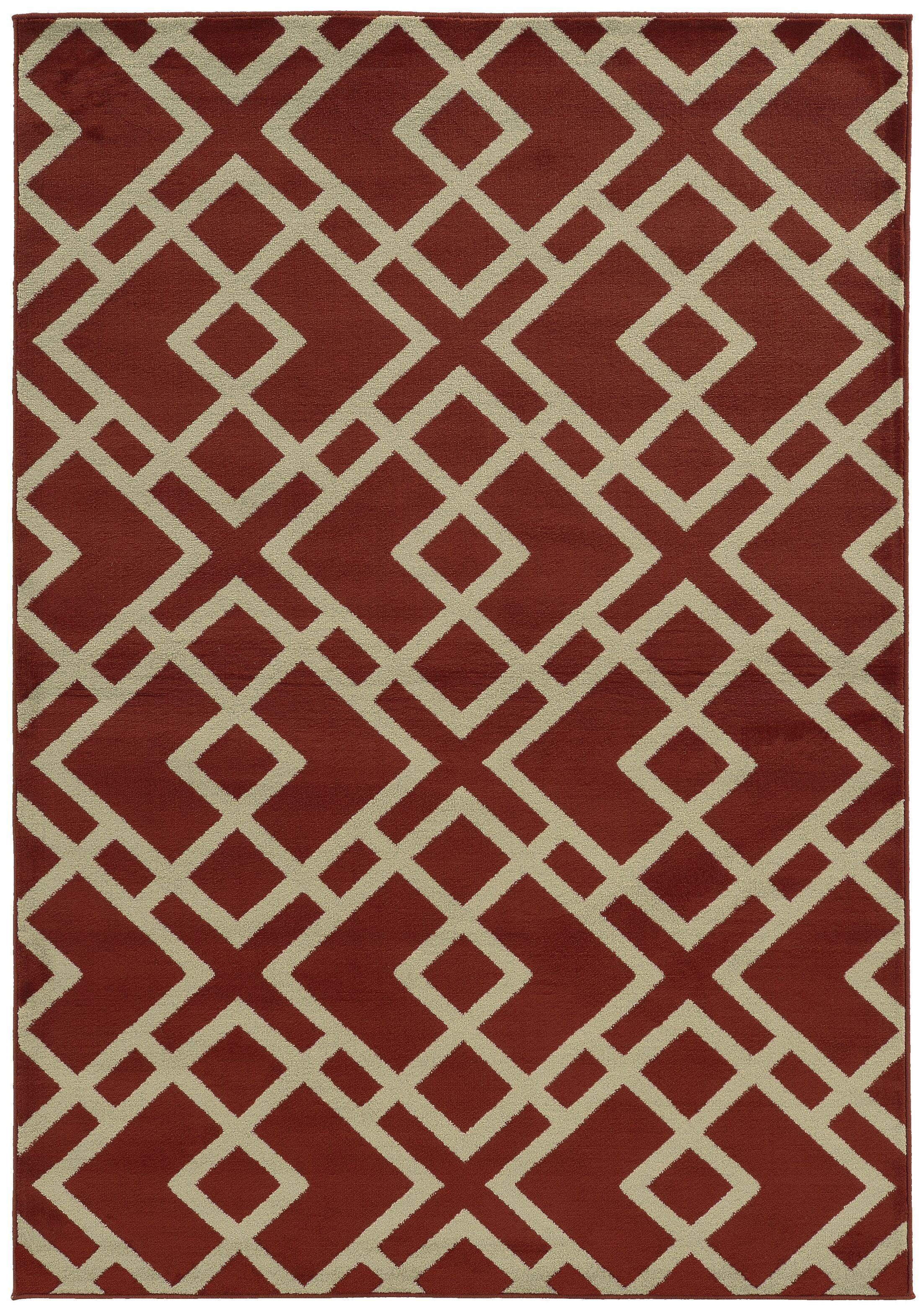 Halloran Red/Light Grey Area Rug Rug Size: Runner 1'1 x 7'6