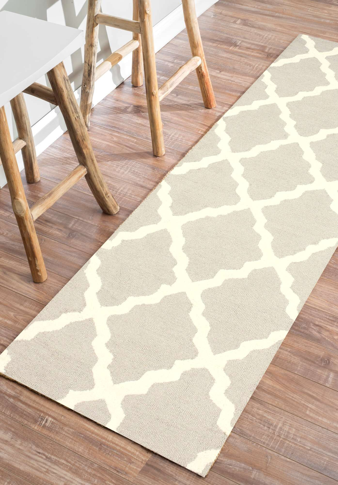 Terina Moroccan Trellis Kilim Tan Area Rug Rug Size: Rectangle 5' x 8'