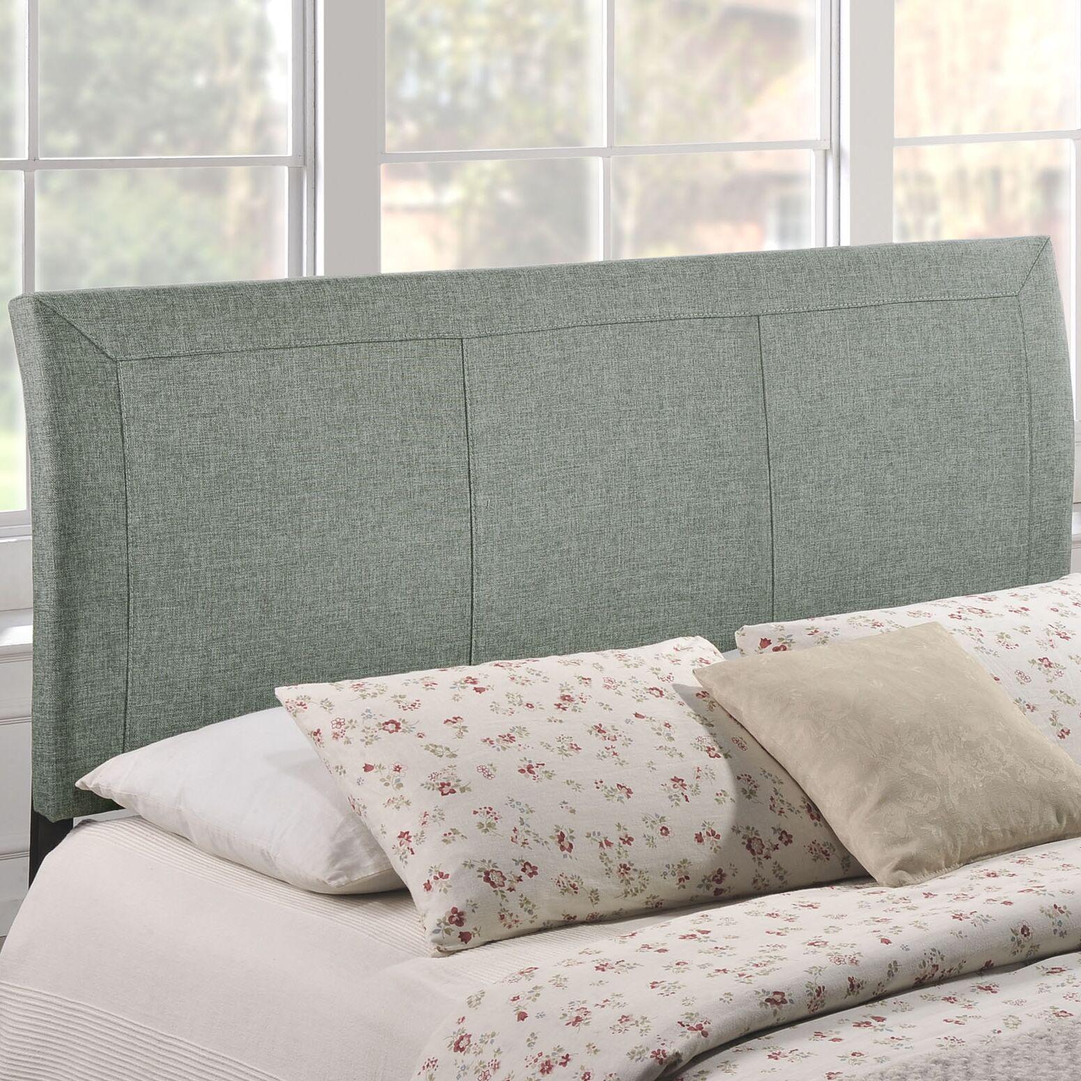 Viveiros Queen Upholstered Sleigh Headboard Upholstery: Gray