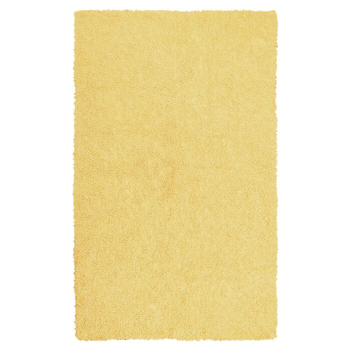 Bouvier Canary Yellow Area Rug Rug Size: Rectangle 7'6
