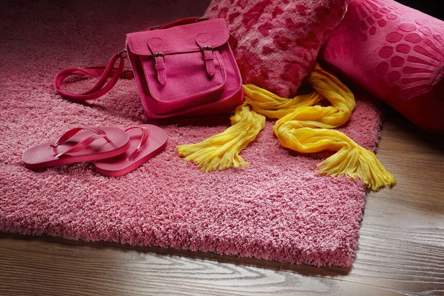 Bouvier Hot Pink Area Rug Rug Size: Rectangle 3'3