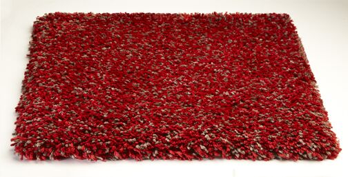 Bouvier Heather Red Area Rug Rug Size: 3'3