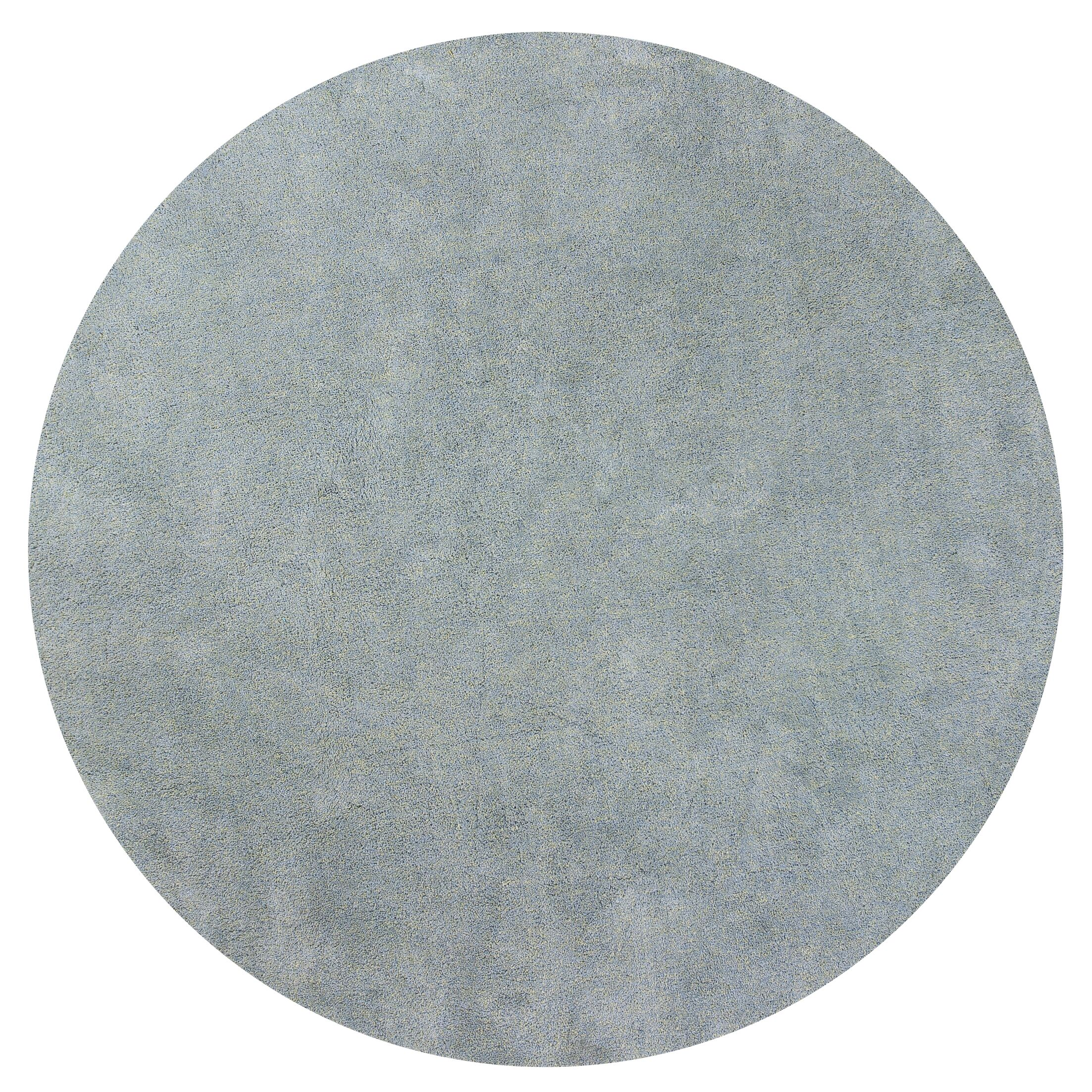 Bouvier Blue Heather Area Rug Rug Size: Round 8'