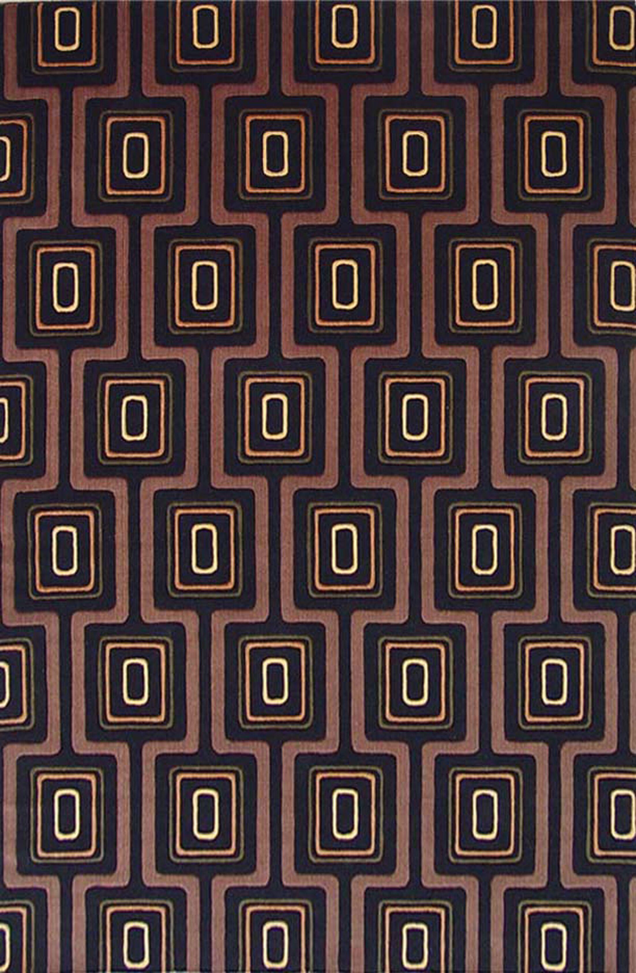 Geno Black City Grid Contemporary Rug Rug Size: Runner 2'6
