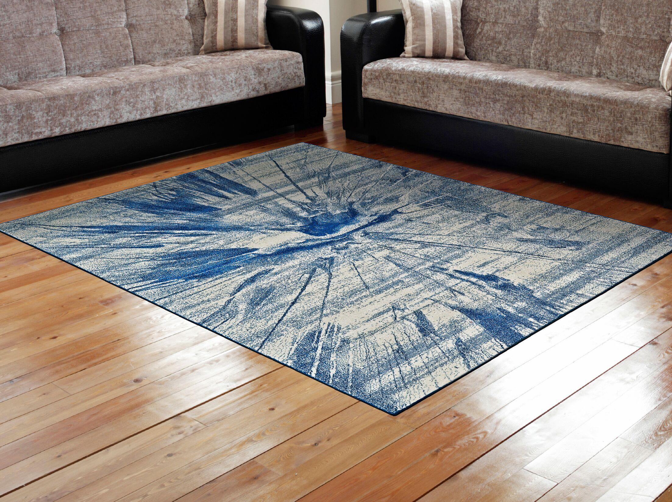 Peasedown St John Cobalt Blue Area Rug Rug Size: Rectangle 8' x 11'