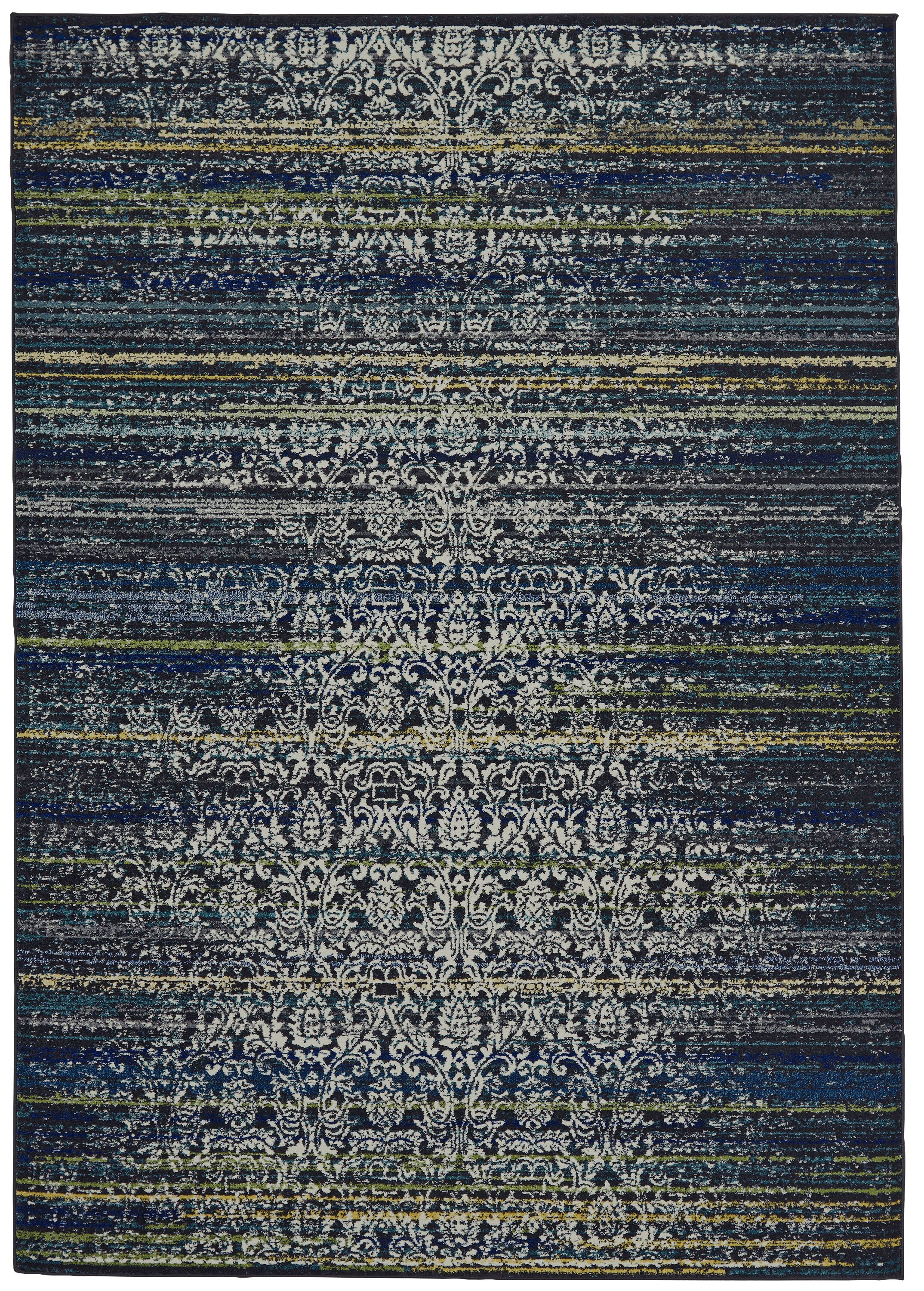 Peasedown St John Midnight Blue Area Rug Rug Size: Rectangle 10' x 13'2