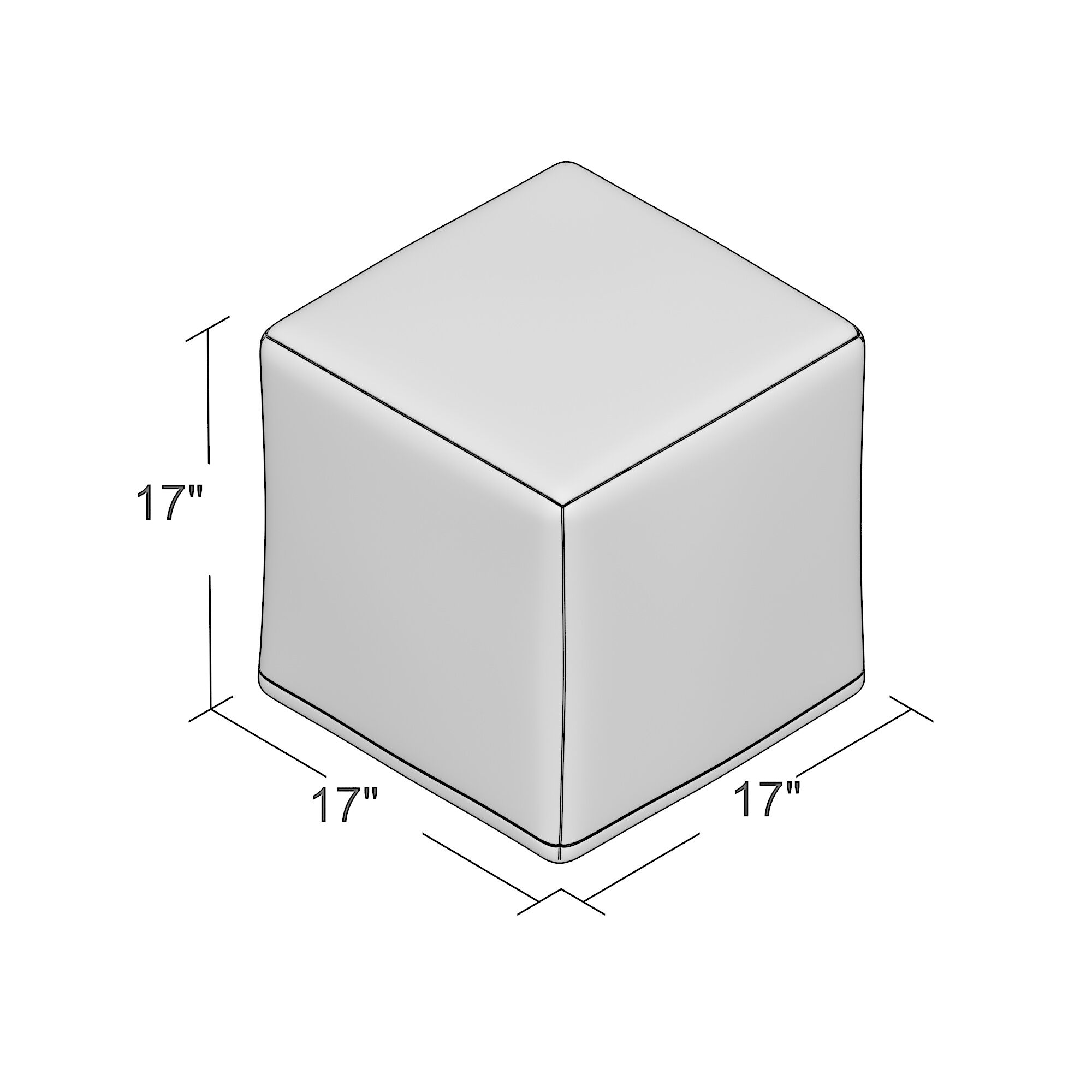 Monterey Cube Ottoman Color: Chocolate