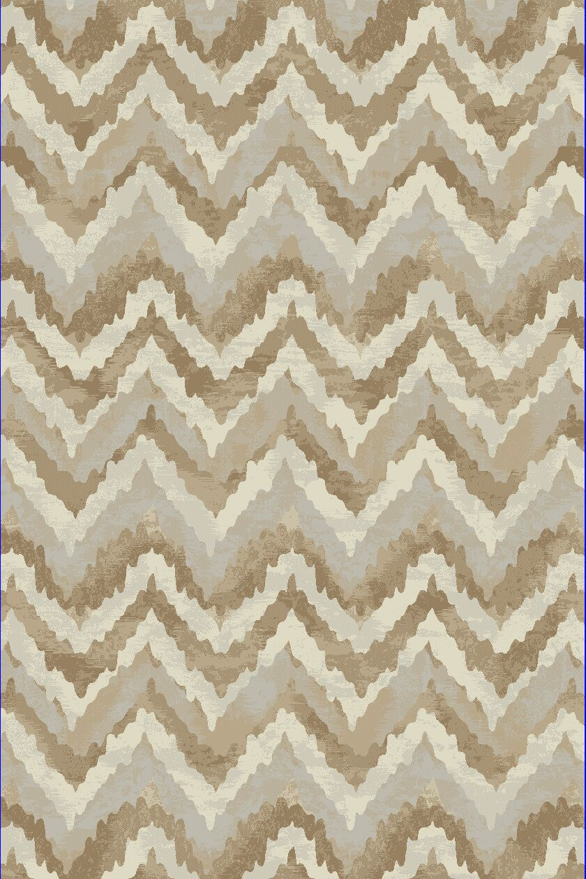 Perrinton Ivory/Beige Area Rug Rug Size: Rectangle 5'3