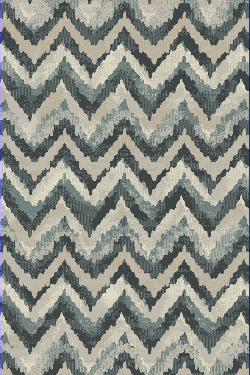 Perrinton Blue Area Rug Rug Size: Runner 2'2