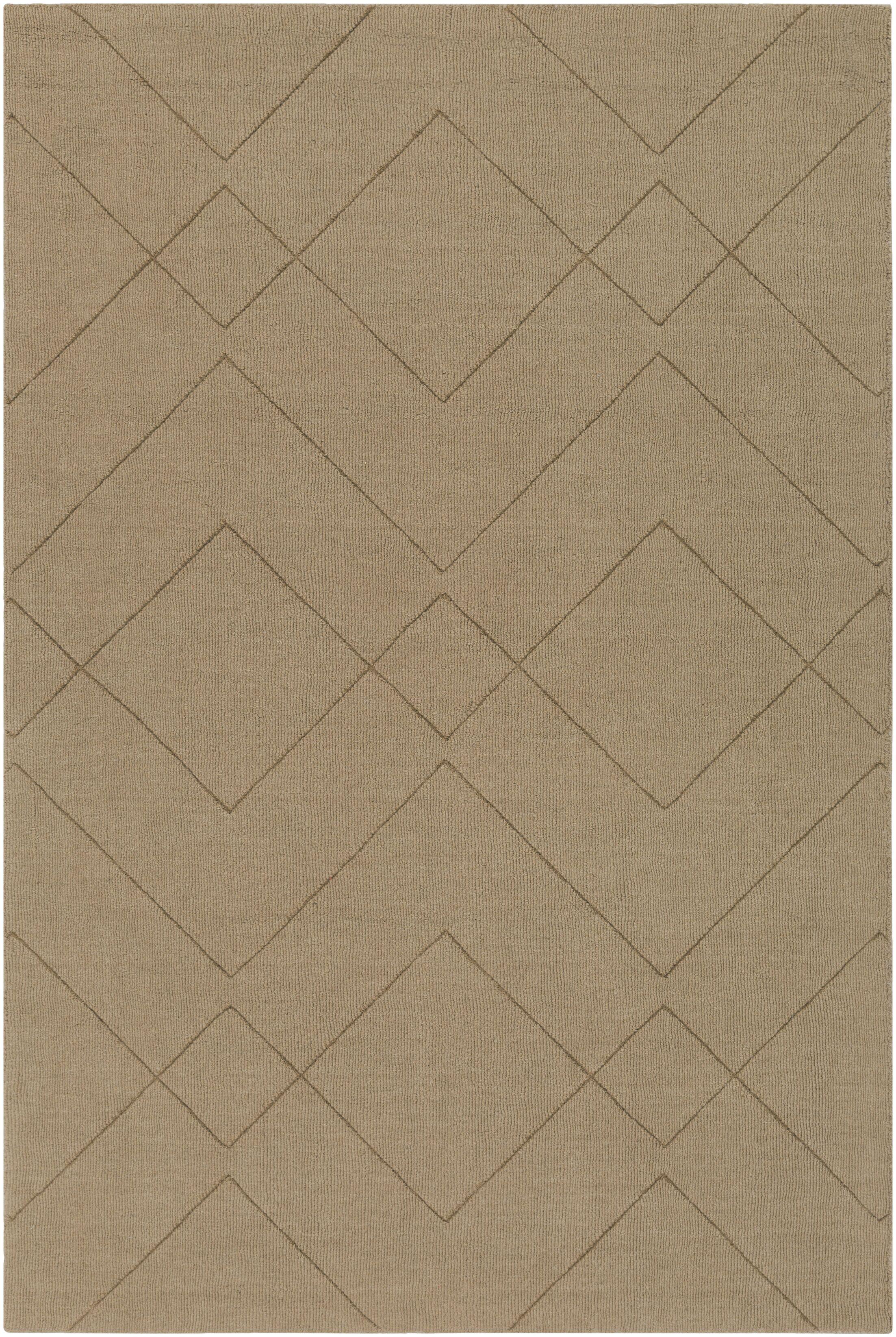 Matteson Hand-Loomed Khaki Area Rug Rug Size: Rectangle 5' x 7'6